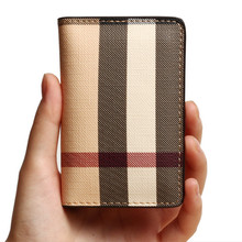 2016 New font b Plaid b font design High Quality Business Credit Card Holder For men