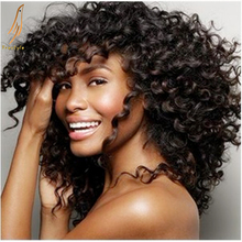6A unprocessed virgin Malaysian hair deep wave afro spiral curl deep curly queen hair remy human natural hair weave extension