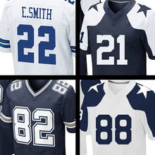 Men's Ezekiel Elliott 21 Jason Witten Jerseys Embroidery 88 Dez Bryant 22 Emmitt Smith 82 Jason Witte Jersey Thanksgiving blue(China (Mainland))