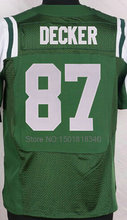 #15 Brandon Marshall #24 Darrelle Revis #87 Eric Decker Jersey Elite Stitched Football Jersey(China (Mainland))