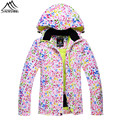 Free shipping 2016 snowboard jacket women winter outdoor sportswear multi colors waterproof warm ski jackets S