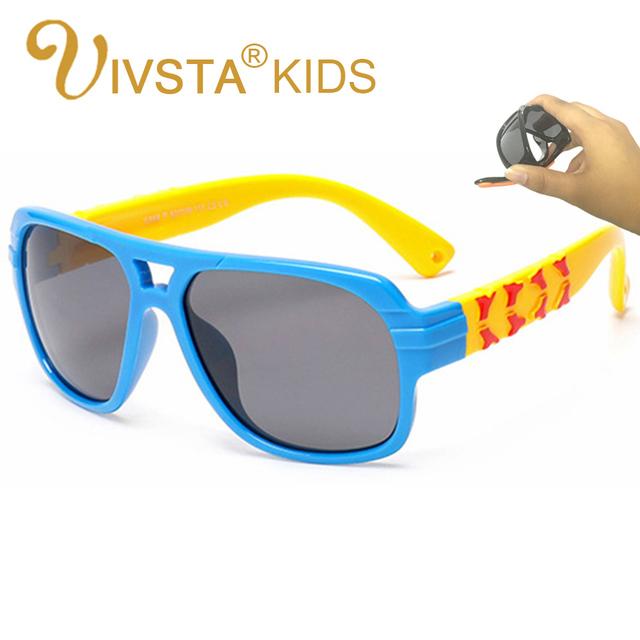 IVSTA Дети Солнцезащитные детские Очки Мальчиков Очки Поляризованные Линзы авиатор Pilot Силиконовый TR90 Ребенок Рамка для Девочек 885