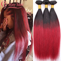 Ombre Brazilian Straight Hair Bundles Omber Brazilian Hair 1b 27 Ombre Virgin Hair Two Tone Brazilian Weave Hair Blonde Bundles