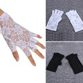 2016 Spring and summer women s vintage sunscreen semi finger gloves lady s anti uv lace