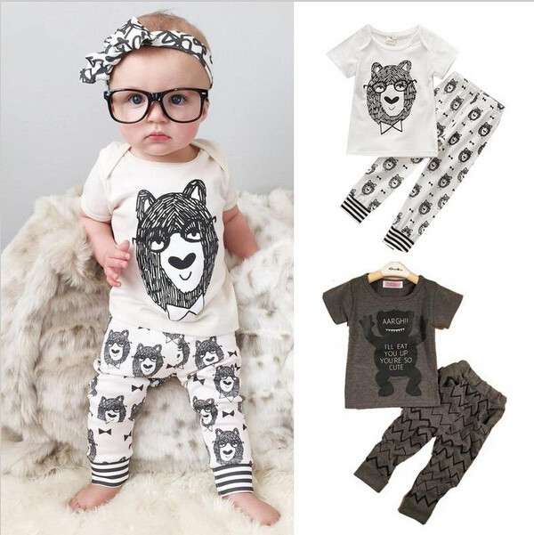 Free Shipping 2016 summer Little Monsters Cotton baby infant boy font b girl b font font