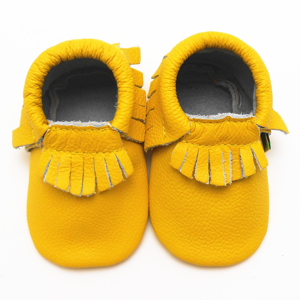 2015-Hot-Sell-Genuine-Cow-Leather-Baby-Moccasin-Tassel ...