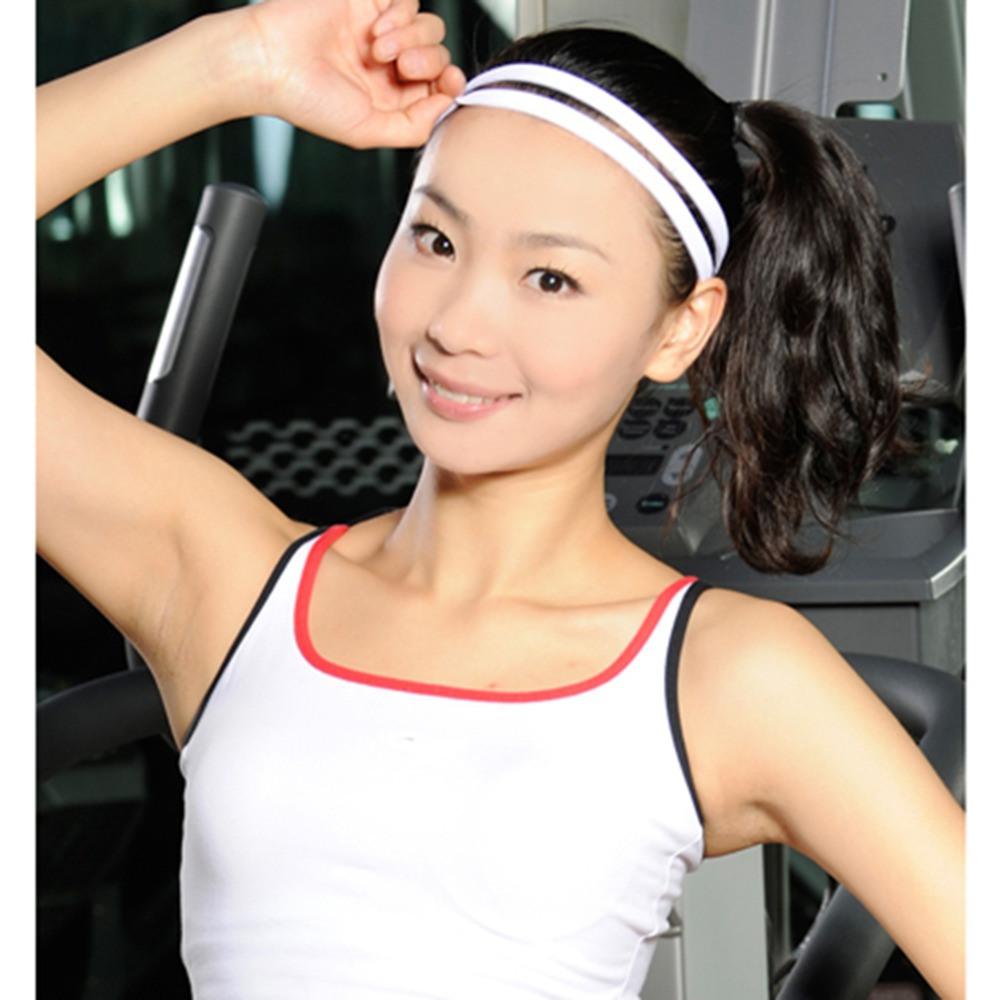 10PCS/Lot Fashion Women's Mixed Color Solid Headbands Double Bands Spandex Casual Headwears for Exercise or Sports 2015(China (Mainland))