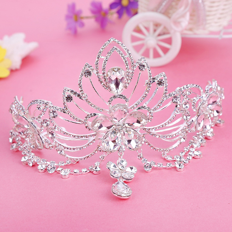 Elegance Crystal Big Crown bridal hair accessory wedding tiaras and crown rhinestone pageant crowns Bridal Headbands Frontlet(China (Mainland))