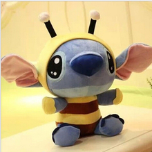 12cm Mini Lilo and Stitch Toy Bee Stitch Cosplay TV Stuffed Soft Plush Toys Cartoon Toy for Kids Baby Boys Girls(China (Mainland))