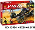Bela 10524 Ninjagoes Black Chariot Ninja Bricks Toy Minifigures Building Block Minifigure Toys Compatible with Legoe