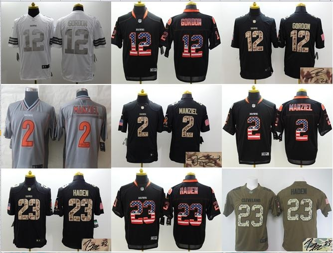 NO-2 2016 Best Quality,Cleveland Browns,Johnny Manziel Josh Gordon Joe Haden ALL players(China (Mainland))