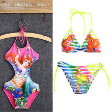 2016 NEW Kids Baby Girls Beauty Mermaid Fancy Swimwear Swimsuit Bikini Set Age 2-10Y Children Swimsuit Children's Swimwear