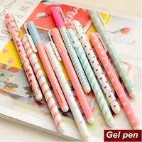 10 Pcs / Lot Color Pen Gel Pens Kawaii Pen Boligrafos Kawaii Canetas Escolar Cute Korean Stationery Free Shipping