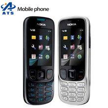 6303 Original Nokia 6303 Mobile Phone 3.2MP Camera FM MP4 Bluetooth Russian Keyboard Support Free Shipping(China (Mainland))