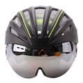 Ultralight Goggles Bicycle Helmet Double Layers In mold Cycling Helmet Casco Ciclismo Bike Helmet Goggles Glasses