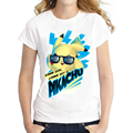 2016 Newest Women Short sleeve T shirt Fashion Retro Pikachu Design t shirt Novelty Tee Shirts