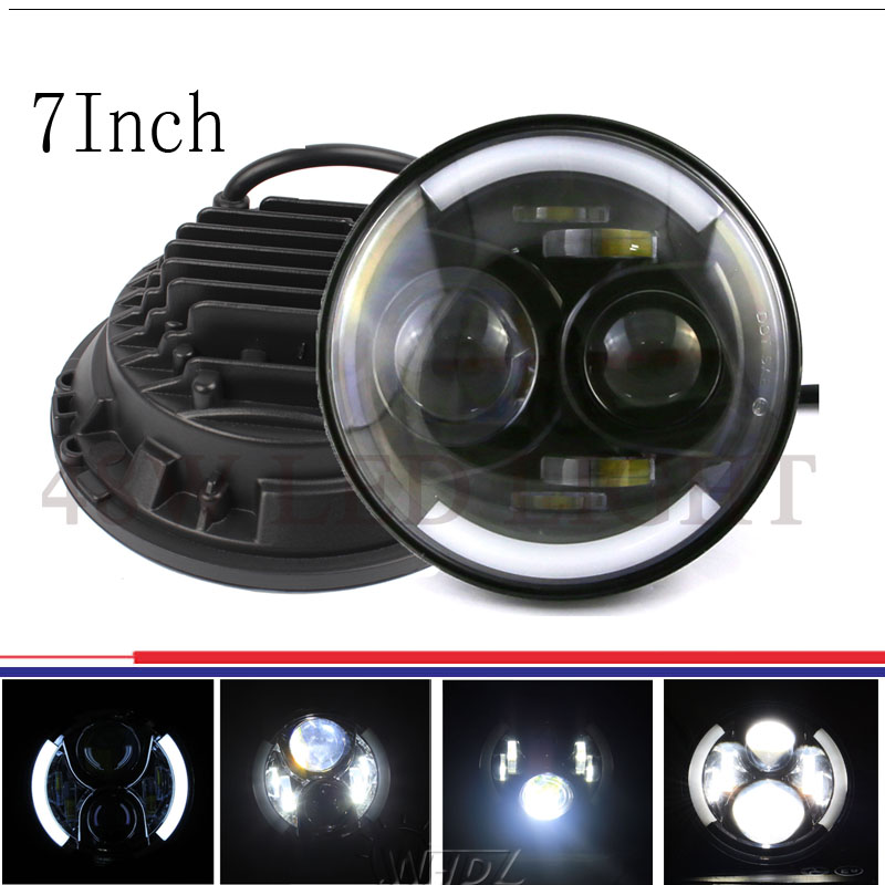 Фотография 48w 7 Inch LED Headlight Bulbs with DRL for Jeep JK Wrangler Offroad Harley Motorcycles