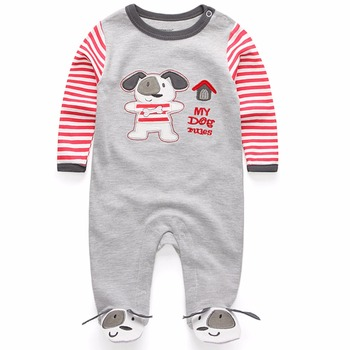 New 2016 cute baby rompers jumpsuit comfortable clothing for new born babies 0-9 m baby wear , newborn baby clothing