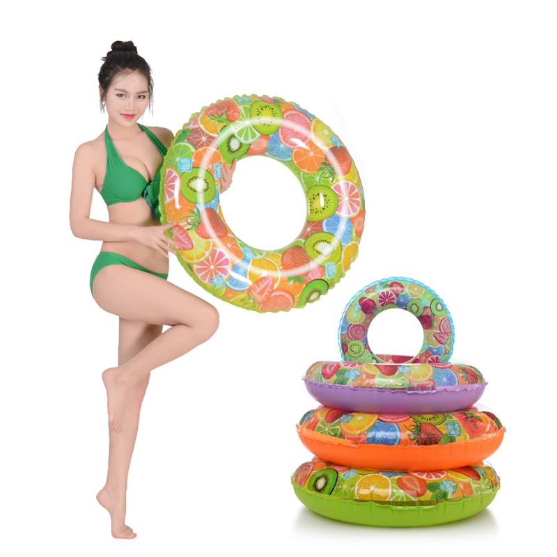 Fruit Style Strawberry Grapefruit Lemon Cartoon Adult /Child Thicken PVC Swimming Ring Floating Rings Inflatable Swiming Laps(China (Mainland))