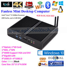 Fanless System Mini HTPC with Intel Core i7 4*USB3.0+2*HDMI Network Computers OEM Mini Desktop PC for Touch Screen(China (Mainland))