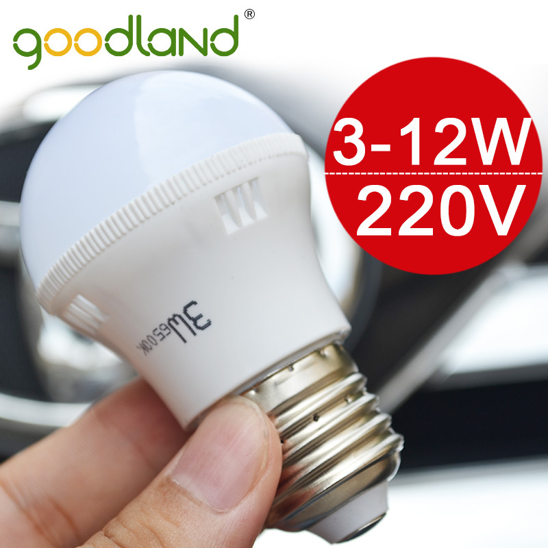 Goodland Brand NEW LED Lamp 3W 5W 7W 9W 12W E27 LED Bulb Light Lighting SMD5730 High Brightness 220V 230V Warm White/White D3-12(China (Mainland))
