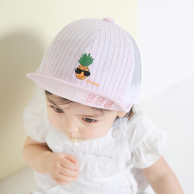 Ребенка шляпу для малыша мальчик девочка бейсболка летний стиль малолетними детьми сетка шляпы регулируемая Snapback подогреватели-новые малышей солнца Casquette
