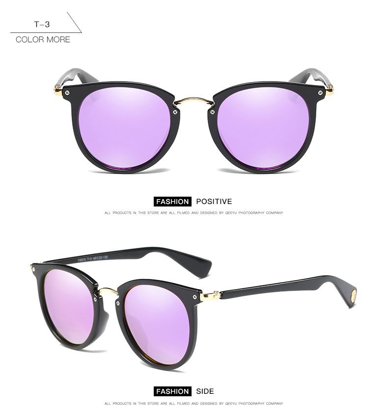 ROUPAI Brand 2017 New Polarized Sunglasses Women Coating Mirror Black Pink Blue Vintage Retro Sun Glasses Female Eyewear oculos