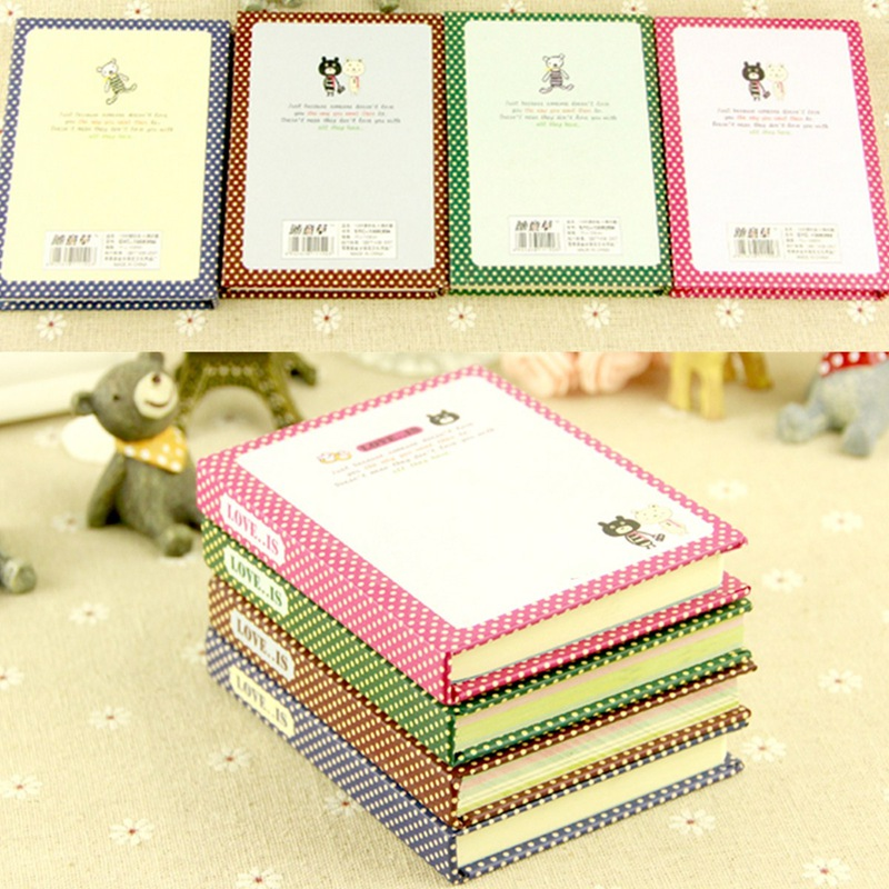The Best Price Unique Design Gift Girls Vintage Style Hard Cover Diary Memo Notebook School Stationery Supplies Color Randomly(China (Mainland))