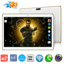 "DHL Free 3G 4G Lte Tablet PC 9.6 inch MTK8752 Octa Core 4GB RAM 32GB ROM Android 5.1 GPS Dual Camera 3G Phone Tablet 10""(China (Mainland))"