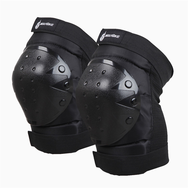 WOLFBIKE Motorcycle Knee Protector Bicycle Cycling Racing Tactical Skate Protective Pads Guard free size - official seller of store