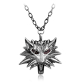 The Witcher Wizard Medallion Pendant Necklace Suspension Colar The Wild Hunt 3 Figure Wolf Head Unisex