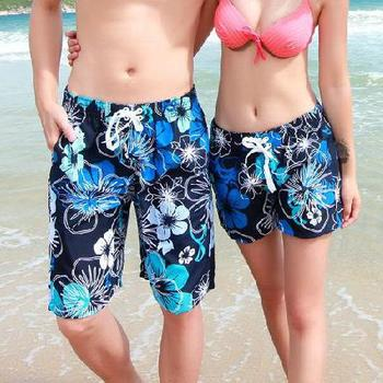 New 2015 A Shorts Men Beach Shorts Flower Plaid Stripe Star Many styles Couple Swimming Surf Swimsuit Sport Wear