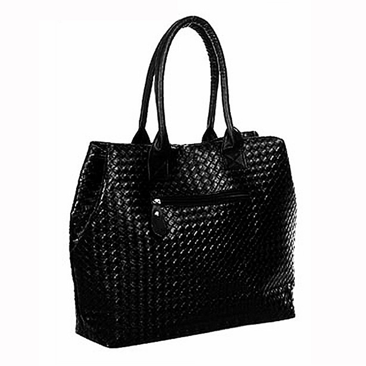 2015 new shopping bag women PU leather shoulder bags fashion big women's handbags woven tote ladies sac a main bag 10 colors(China (Mainland))