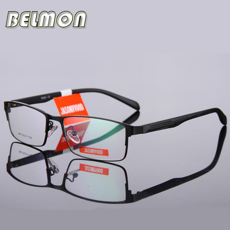 BELMON Eyeglasses Frame Men Computer Optical Eye Glasses Spectacle Frame For Male Transparent Clear Lens Armacao Oculos de RS009