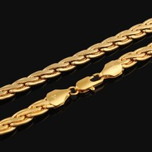 2015 hot sale High Quality 18k gold twist chain necklace jewlery for men and women free shipping