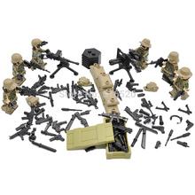 Wholesale Military Modern Combat World War 2 Heavy Fire Minifigures Building Blocks 60pcs/lot Sets Models Figures Toys
