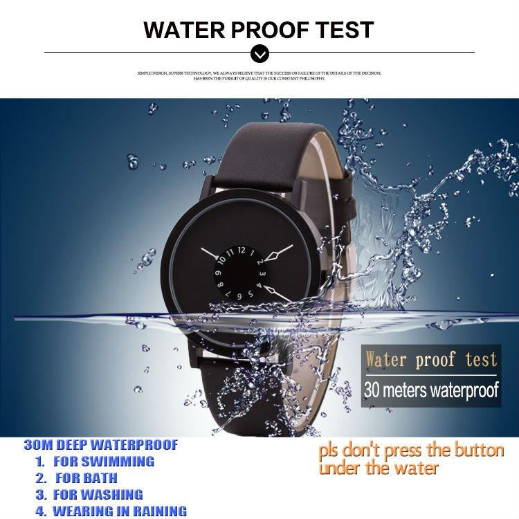 עמיד במים 3ATM טדה מותג מיוחד הפטיפון חיוג שעה שעון נשים שעון יד רצועת עור מקורית אופנה קוורץ שעונים ליידי