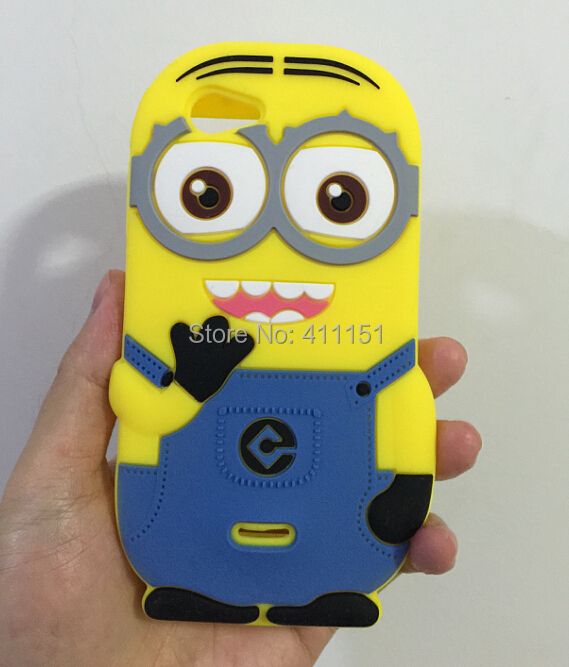 3D Despicable 2 Minions Soft Silicone Back Cover Case Sony Xperia J ST26i - ALEX ZHOU Store store