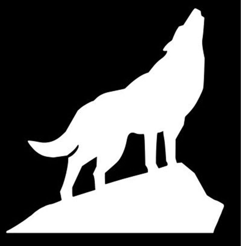 Howling Wolf Vinyl Decal Sticker Car Truck Window<br><br>Aliexpress