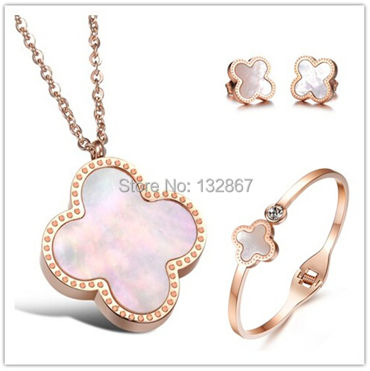 Buy rose gold four leaf clover shell for A good jewelry store