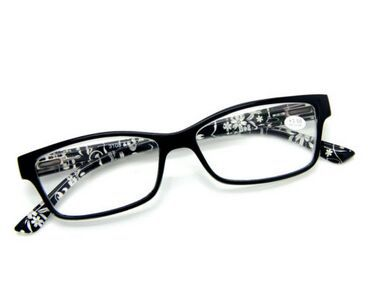 Women's Small Artistic Flowers Prints Spring Hinges Designer Reading Glasses(China (Mainland))