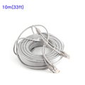 10M 33ft CCTV Network Cable RJ45 Cable with 12V DC Power 2 1x5 5mm CAT5 5e