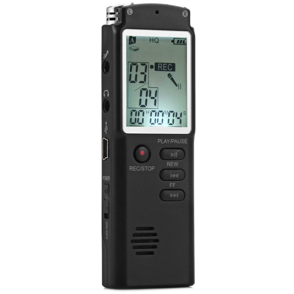 T60 2 in 1 LCD Real Time Display 8GB Digital Voice Recorder MP3 Player Support A-B Repeat Function / Day And Time Setting