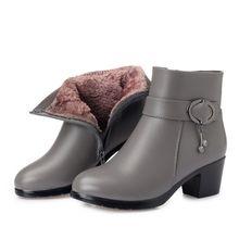 AIYUQI 2020 yeni hakiki deri bayanlar kısa kış çizmeler büyük boy kadın martin çizmeler avustralya yün astar kadın kar botları(China)