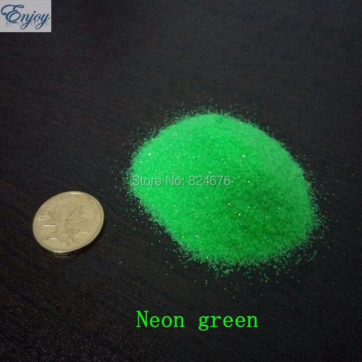50g Neon Glitter powder Acrylic Dust Nail art glitter Fluorescent Paillette Diy Make up Powder Glitter free shipping(China (Mainland))