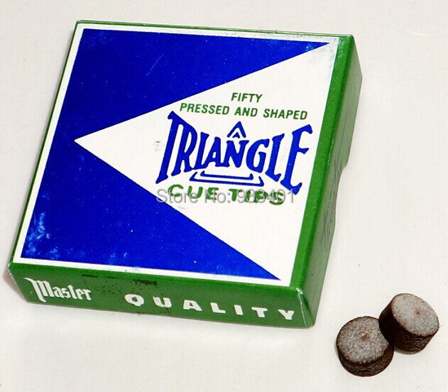 8pcs/lot 13MM Original TRIANGLE Billiard cue tips pool cue stick tips free shipping billiard table accessories(China (Mainland))
