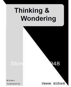 Jason Alford - Thinking and Wondering,card magic, file,good magic book , Highly recommended!(China (Mainland))