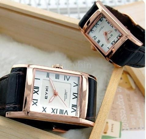 wholesale fashion watch/brand watch 10 pcsHot Roman text yai Eyki couples form a square couple watches W8116G