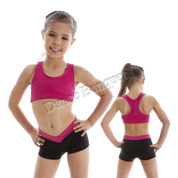children gymnastic tank bra top with a racer back ballet dance top toddler dance wear(China (Mainland))