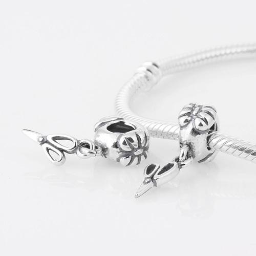 Аутентичные 925 серебряные ювелирные изделия бусины ножницы шаблон европейские женщины DIY мода ювелирных изделиях Fit пандора браслет